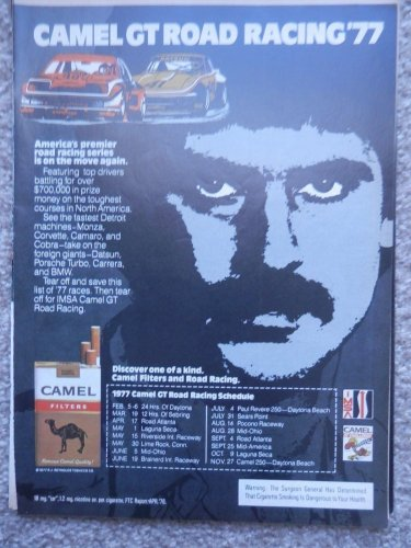 1977 Camel GT Racing 1977 Full Color Magazine Ad