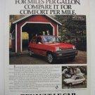 1980 RENAULT LE MAGAZINE FULLPAGE COLOR ADVERTISEMENT