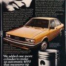 1980 Audi 4000 Dr. Franz Behles - Original Car Advertisement Print Ad