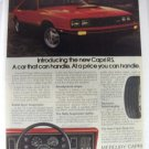 1979 MERCURY CAPRI RS  MAGAZINE FULLPAGE COLOUR ADVERTISEMENT