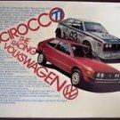 Volkswagen Scirocco Sportscar vintage 1977 Ad