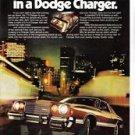 Dodge Charger 318 V8 Car Vintage Magazine Print Ad 1977
