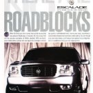 2000 Cadillac Escalade - roadblocks - Vintage Advertisement Ad