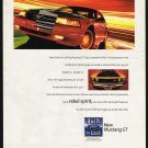1999 Ford Mustang GT VS Old 1964 Mustang GT Car Magazine Print Ad
