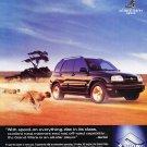 2000 Suzuki Grand Vitara - Cheetah - Classic Vintage Advertisement Ad