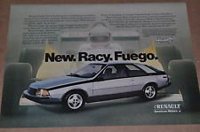 1982 Renault - New Racy Fuego Color AD