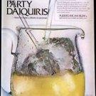 Party Daiquiris Puerto Rican Rum with recipe 1968 magazine ad