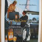 1968 Old Crow Traveler Fifth / Dupont Dacron Hathaway Color AD