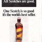 Vintage Magazine Advertisement Johnnie Walker Red Smooth Scotch 1968