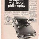 Vintage 1968 Renault 10 Magazine Car Ad