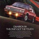 1984 Cadillac Cimarron Nice Vintage Car Ad