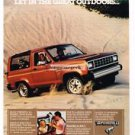 1984 Ford Bronco II Truck Vtg Print Ad