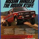 1984 Magazine Ad #9118 Nissan 4x4 Pickup Truck Drives Off Road in Desert