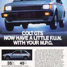 1983 Mitsubishi Dodge Colt GTS - Classic Vintage Advertisement Ad