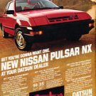 1983 Nissan Pulsar NX - Datsun red - Classic Vintage Advertisement Ad