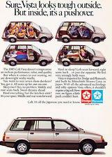 1985 Dodge Colt Vista Mitsubishi - Classic Vintage Advertisement Ad