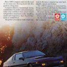 """1985 Dodge/Plymouth Conquest Coupe photo """"Road for Sale"""" magazine print ad"""
