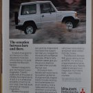 1987 MITSUBISHI MONTERO advertisement, Mitsubishi Montero 4x4 off-road