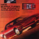 1986 Toyota Supra Turbo - Dynasty - Classic Vintage Advertisement Ad