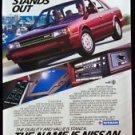 1987 Nissan Stanza Car Automobile Magazine Print Ad