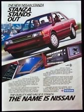 1987 Nissan Stanza Car Automobile Magazine Print Ad