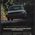 1983 VOLKSWAGEN WOLFSBURG LIMITED EDITION RABBIT Sports Car - VW - VINTAGE AD