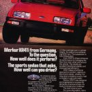 1986 Merkur Xr4ti - red perform - Classic Vintage Advertisement Ad