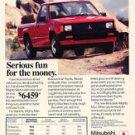 1987 Mitsubishi Mighty Max Truck - Original Car Advertisement Print Ad