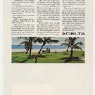 1968 Delta One Vacation Airline Golf Golfing Advertisement