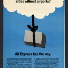 1968 AIR EXPERESS DIVISION OF REA EXPRESS VINTAGE MAGAZINE PRINT AD