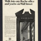 1968 BACHE & CO. WALL STREET VINTAGE MAGAZINE PRINT ART AD