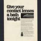 1968 LENSINE MURINE COMPANY CONTACT SOLUTION VINTAGE MAGAZINE PRINT ART AD