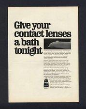 1968 LENSINE MURINE COMPANY CONTACT SOLUTION VINTAGE MAGAZINE PRINT ART AD