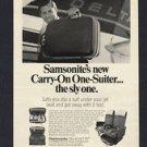 1968 SAMSONITE SILHOUETTE CARRY-ON ONE-SUITER VINTAGE LUGGAGE PRINT MAGAZINE AD