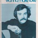 Vintage Sheet Music 1977 Do You Wanna Make Love Peter McCann