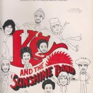 SHAKE YOUR BOOTY–KC & THE SUNSHINE BAND-WORDS & Vintage SHEET MUSIC-1976