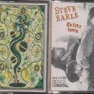 STEVE EARLE CASSETTE LOT-GUITAR TOWN & FEEL ALRIGHT