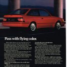 Vintage 1989 Magazine Ad Ford Escort GT Drivers Note Its Formidable Appearance