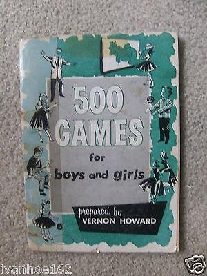 1963 PAPERBACK ACTIVITY BOOK TITLED 500 GAMES FOR BOYS AND GIRLS