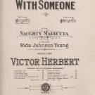 I'm Falling In Love with Someone, 1910 Sheet Music, Naughty Marietta V Herbert