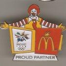 Mcdonalds Proud partner pin