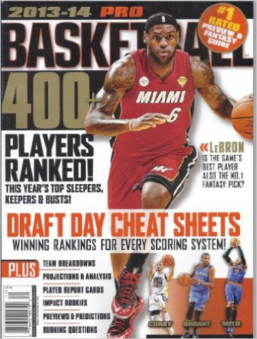 Pro Basketball Preview & Fantasy Guide 2013-2014 (Lebron James Cover)