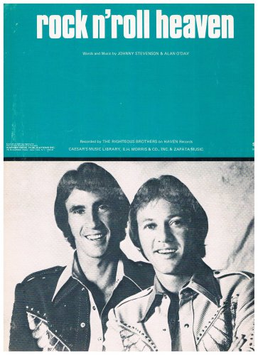 ROCK N' ROLL HEAVEN Sheet Music RIGHTEOUS BROTHERS Bill Medley 1974 Pop #3 Hit