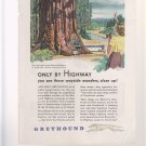 ONLY BY HIGHWAY GREYHOUND BUS VINTAGE MAGAZINE AD