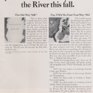 1968 TWA Save You A Nice Pile of Dollars Crossing the River Vintage Ad