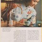 1968 JAPAN Air Lines - Pretty Japanese Stewardess - VINTAGE AD