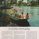 1967 vintage Travel AD for FORT LAUDERDALE FLORIDA VACATIONS