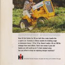 Vintage Magazine Print Ad 1966 International Harvester Cub Cadet Tractor
