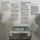 1981 CADILLAC CARS V6 and Diesel vintage ad