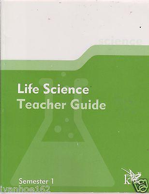 K12 Life Science Teacher's Guide Sem. 1 & Sem. 2 (2 books) [Paperback]
